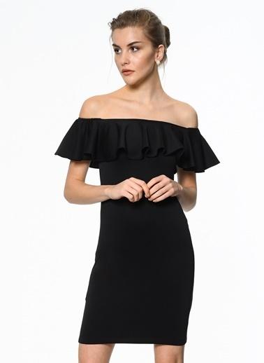 Fırfırlı Mini Elbise-İroni